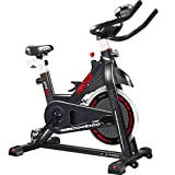 pooboo Indoor Cycling Bike, Belt Drive Indoor Exercise Bike, Stationary Bike LED Display Heart Pulse Trainer Bike