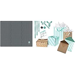 Template Studio Starter Kit by We R Memory Keepers | Includes 23 x 29-inch tri-fold mat, 5 template guides, cutting blade, scoring blade and instruction cards