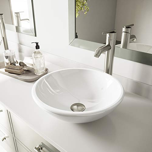 VIGO White Phoenix Stone Vessel Sink