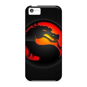 Hot XSg2210ZaRd Case Cover Protector For Iphone 5c- Mortal Kombat Logos Mortal Kombat Logo