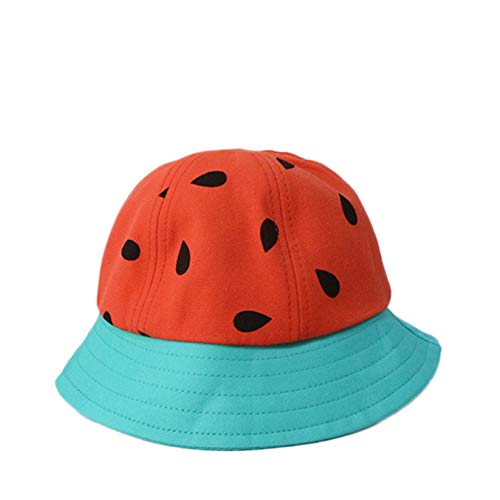 LYDIAMOON Kid Sun Hat Cotton Breathable Anti-UV Adjustable Watermelon Thin and Light for Girl Boy,Red