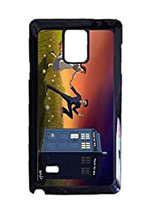 Doctor Tardis Meet Ariel Little Mermaid Custom Image Case, Diy Durable Hard Case Cover for Samsung Galaxy Note 4 , High Quality Plastic Case By Argelis-Sky, Black Case New