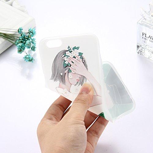 Phone Case & Hülle Für iPhone 6 & 6s, TPU mattierte geprägte Wassermelone Muster Schutzhülle zurück Deckung ( Size : Ip6g5304c )