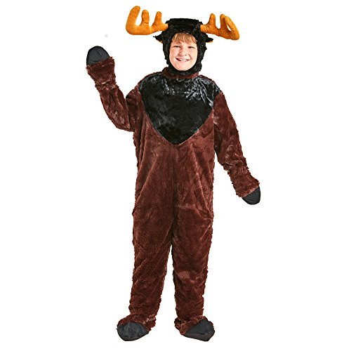 Child Moose Costume Size Medium, Color Brown