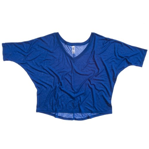 Bella + Canvas Womens/Ladies Flowy V-Neck Crop T-Shirt (6 US) (True Royal)