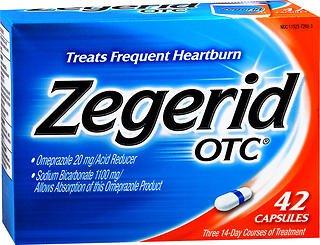 Zegerid OTC Acid Reducer Capsules - 42 ea., Pack of 5 by Zegerid