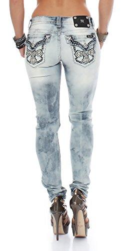 Miss Me Pantalones Vaqueros De Mujer Vaqueros mujer LT59 Pitillo JP5046S15 Azul