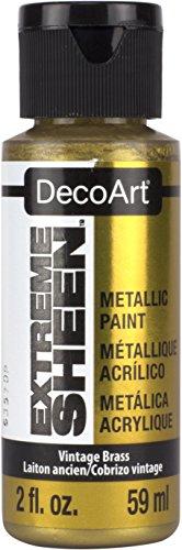 DecoArt 2 Ounce, Vintage Brass Extreme Sheen Paint (Sheen Finish Metallic)