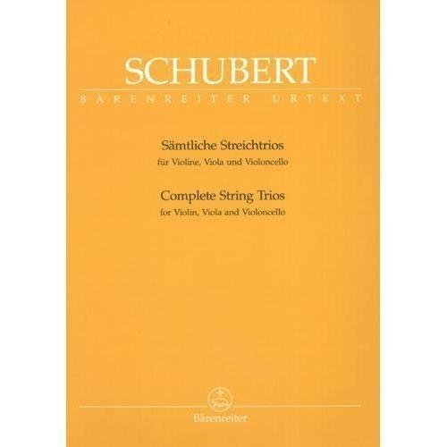 Schubert, Franz - Complete String Trios. For Violin, Viola, and Cello. Edited by Aberhold. URTEXT