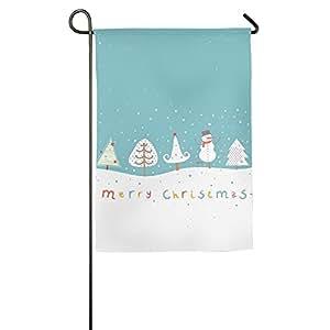 Feliz Navidad Durable alta calidad tela de poliéster banderas para jardín al aire libre, gran decoración del jardín, banderas decorativas para exterior