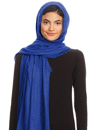 Abeelah Cotton Crinkle Hijab Scarf- Muslim, Indian, African Fashion Compatible (Royal Blue) by Abeelah (Image #8)