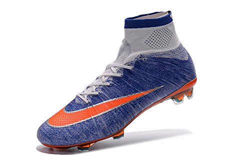 demonry Schuhe Herren Fußball Mercurial Superfly FG Royal Blau Fußball Stiefel