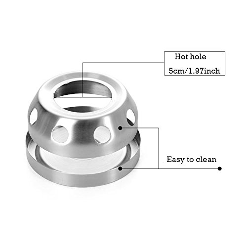 Mini Candle Stove: Stainless Steel Camping Stove For Camp Kitchen , Mini