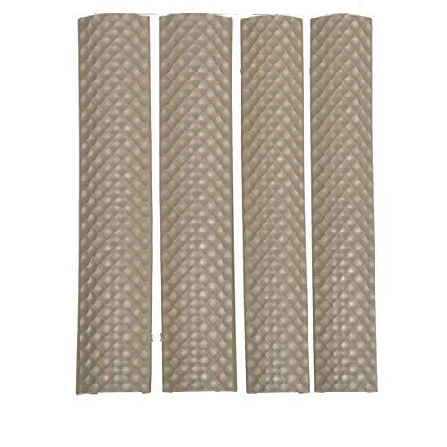 Anzzz Picatinny Rail Panel HeatResistant Rubbery 4pcs FDE
