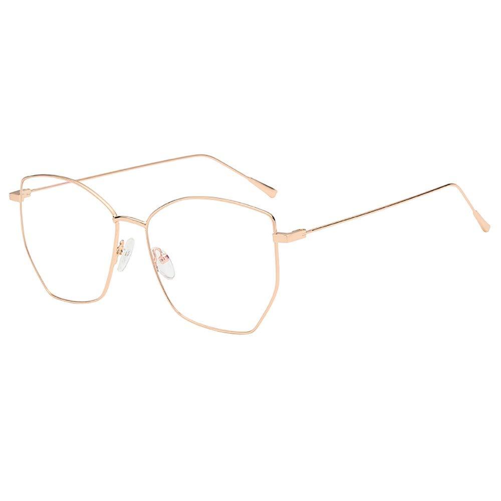 TADAMI Fashion Irregular Clear Lens Glasses Vintage Geek Nerd Retro Style Metal Frame