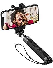 Mpow Selfie Stick, Extendable Compact Monopod Bluetooth Selfie Stick for iPhone X/8/8 Plus/7/7 plus/Se/6s/6/6 Plus, Samsung Galaxy S8/ S7/S6/Edge, Note 5/4, LG G5, Moto and More