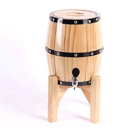 - LHome 5L Oak Wine Barrel, Wine Spirit Whiskey Storage Barrel with Tap Vertical Oak Beer Stainless Steel Barrel Wine Barrel (Color : Beige, Size : 3L)