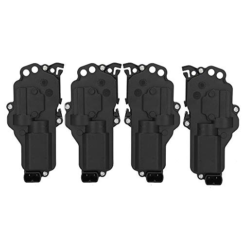 4 Pack Latch Door Lock Actuator - Right & Left Side, Fit for 1998-2017 Ford Excursion F-150 F-250 F-350 F-450 F-550 Freestyle Lincoln Navigator Mercury Montego # 6L3Z25218A43AA 6L3Z25218A42AA 746-148