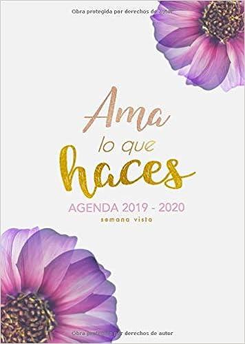 Agenda Semana Vista 2019 2020: Octubre 2019 a Diciembre 2020 ...