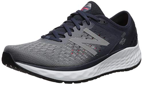 New Balance Men's 1080v9 Fresh Foam Running Shoe, Gunmetal/Outerspace/Energy red, 11 N US
