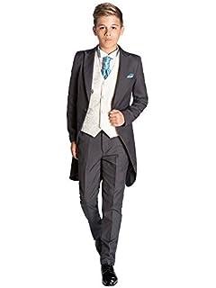 Paisley of London, niños traje negro, Slim Fit Suit ...