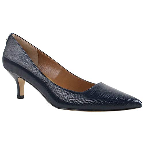 J. Renee Women's Braidy Pump,Navy Faux Crinkle Patent Leather,US 5.5 M