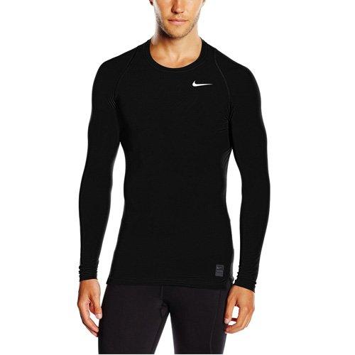 Men's Nike Pro Cool Compression Top Black/Dark Grey/White Size X-Large