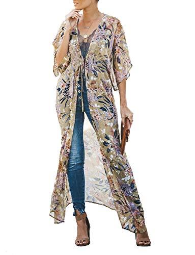 (Women's Swimwear Cover Ups Dress Open Front Beach Swimsuit Bathing-Suit Bikini Kimono Cardigan)