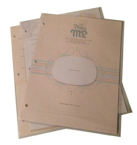 Perfect Memory Creations The Story of Me Baby Memory Album with Fabric Cover Embroidery, Page Protectors