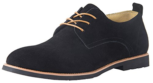 iLoveSIA Men's Lace-up Casual Oxford Suede Leather Shoe