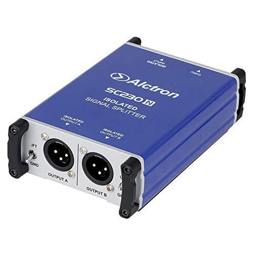 Alctron SC230N Professional DI Box microphone splitter split a male  microphone XLR input to 2 XLR output