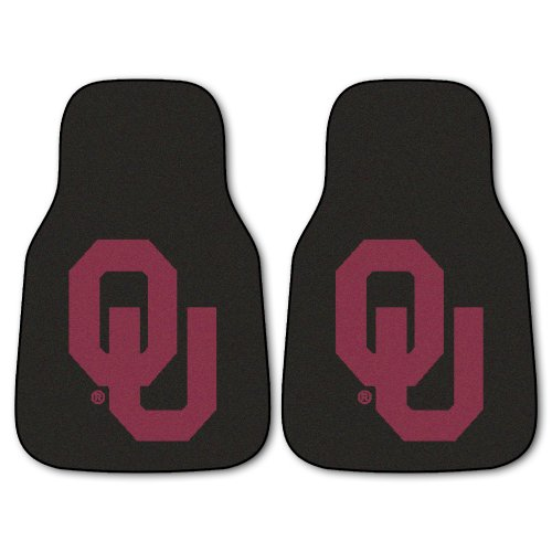 (Fanmats NCAA University of Oklahoma Sooners Nylon Face Carpet Car Mat)