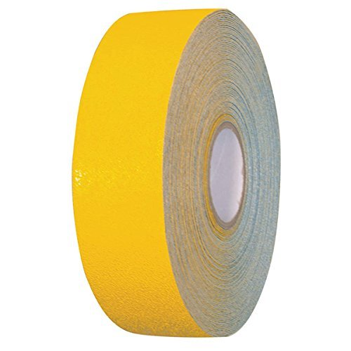 Armadillo Yellow Heavy Duty Safety Marking Pavement Tape with High Visibility Reflective Glass Bead Surface - 3 Inch x 108 Foot - Striping Machine Line