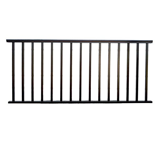 Cheap  Contractor Deck Railing 8ft x 36in Aluminum Residential Railing - Hammered Black