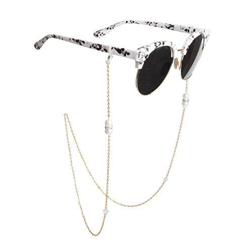 Kalevel Eyeglass Chain Holder Strap Beaded Glasses Sunglasses Chain Eyeglass Chains and Cords For Women - Cool Clip Magnetic Sunglasses