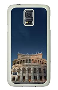 Samsung Galaxy S5 Case Cover - Armenia Yerevan Building Silicone Rubber Case Back Cover for Samsung Galaxy S5 - PC White