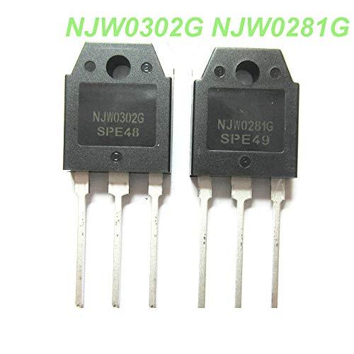 10PCS 10pcs=5pair (5pcs NJW0281G + 5pcs NJW0302G) NJW0281 NJW0302 high Transistor 100% New Original