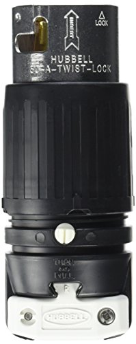 Hubbell CS6365C Locking Plug, 50 amp, 125/250V, 3 Pole and 4 Wire from Hubbell
