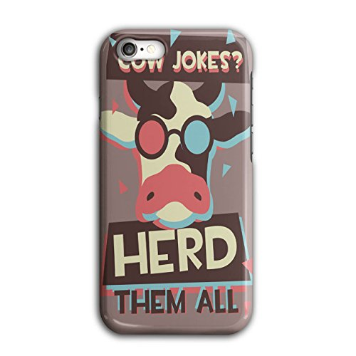 [Cow Jokes Herd Them Funny Life NEW Black 3D iPhone 7 Case | Wellcoda] (Creative Cow Costumes)