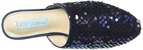Blue Ved Betsey Johnson Kvinners Sb-cass Loafer Flate Multi Paljetter