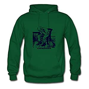 Sarahdiaz Women Unfriended Image Style Personality Funny Green Hoody In X-large
