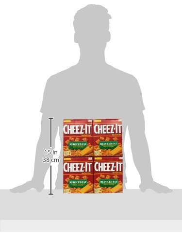 Cheez-It Baked Snack Cheese Crackers, Reduced Fat, Original, 6 oz Box(Pack of 12) by Cheez-It (Image #9)