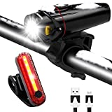 Bike Light Set USB Rechargeable Waterproof Bicycle Front and Rear Lights Safety LED Night Headlight Taillight for Mountain Road & Kids Bicycles For Sale