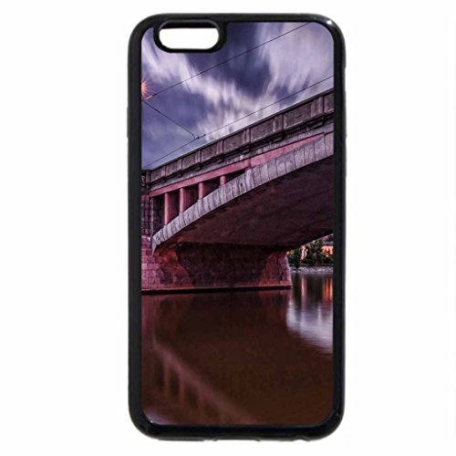 iPhone 6S / iPhone 6 Case (Black) beautiful bridge in prague at dusk