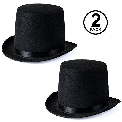 (Funny Party Hats Black Felt Top Costume Hat (Black - 2)