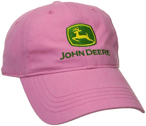 John Deere Big Girls' Trademark Baseball Cap, Pink, One Size
