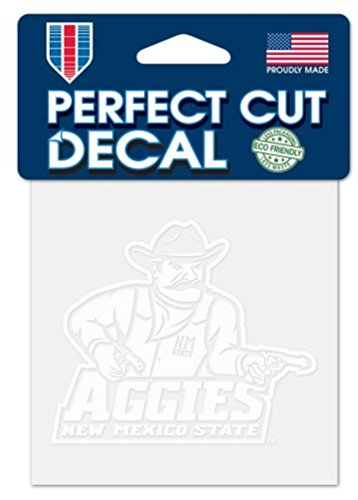 """WinCraft NCAA New Mexico State University Aggies Logo 4"""" x 4"""" inch Outdoor White Decal"""