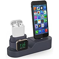 AHASTYLE 3 in 1 Charging Stand Dock Station Silicone...