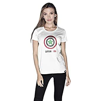 Creo Captain Syria T-Shirt For Women - L, White