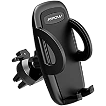 Mpow UPGRADE Air Vent Car Phone Mount, 3-level Adjustable Clamp with Universal Phone Cradle for iPhone X 8/8s 7 7 Plus 6s Plus 6s 6 SE Samsung Galaxy S8 Plus S8 Edge S7 S6 Note 8 Nexus 6 & Smartphones